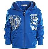 Jungen Kinder Kapuzen Pullover Hoodie Sweat Shirt Jacke Langarm Winter 20718, Farbe:Blau;Größe:152