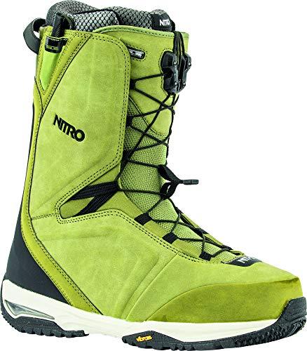 Nitro snowboards team tls '20 all mountain freeride freestyle - scarponi da snowboard, da uomo, 29,5 cm, colore: verde