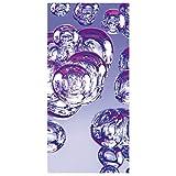 Flächenvorhang Set Purple Bubbles 250x120cm | Schiebegardine Schiebevorhang Raumtrenner Vorhang Raumteiler Gardine Paravent Wandbild XXL Deko Dekor | Größe HxB: 250x120cm inkl. transparenter Halterung