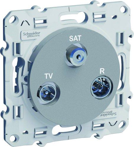 Preisvergleich Produktbild Schneider Electric Steckdose SC5S53A461 TV/FM/SAT, Alu