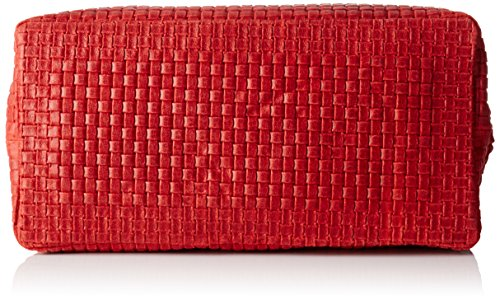 Chicca Borse Damen 80047 Umhängetasche, 34x29x18 cm Rot (Rosso)