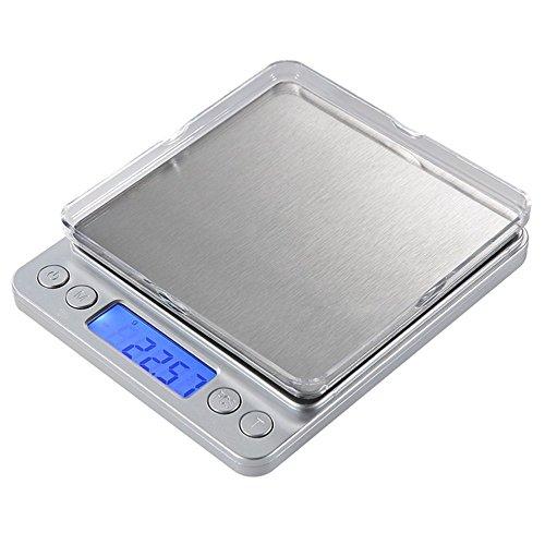 Báscula electrónica de alta precisión y acero inoxidable para la cocina de Vantskitt, 3000 g x 0,1 g