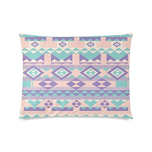 Azteken Muster Rechteck Sofa Home dekorativer Überwurf-Kissenbezug Baumwolle Polyester Twin Seite Druck 50,8x 66cm (Monster-truck-plüsch Werfen)