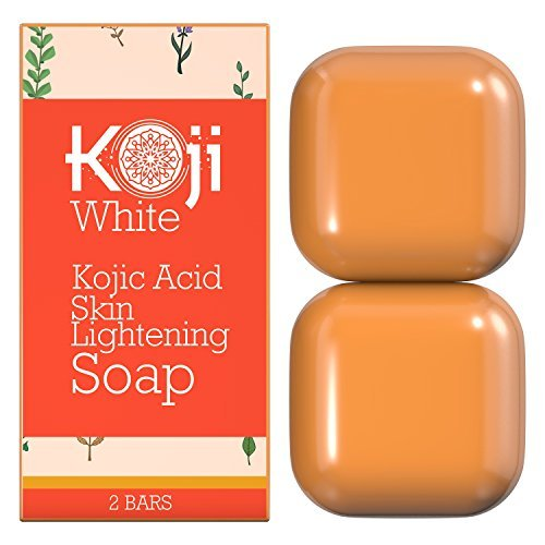 Pure Kojic Acid Skin Lightening Soap (2.82 oz / 2 Bars) - Naturally Whitening for Tone Adjustment & Bleaching Skin - Remove Freckles, Fade Age Spots, Anti-aging, Acne Scars, Sun Spots Damage
