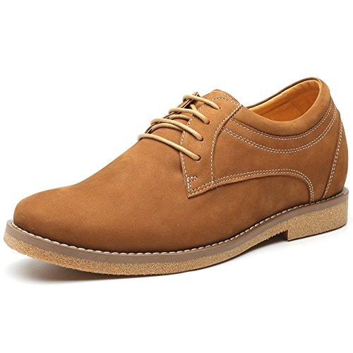 Chamaripa mocassini scarpe con rialzo eleganti derby uomodi pelle per tempo libero/affari commerciali caff¨¨ fino a 6 cm - h81d13k051d