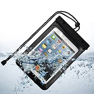 SumacLife Boîtier étanche Waterproof Case Cover Bag pour Apple ipad mini 7.9 '' tablette / Samsung TAB 3 7.0 / Samsung Note 8.0 (Noir)