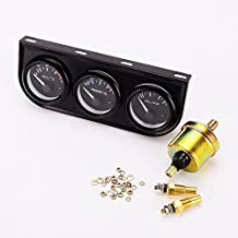 Sensor Del Calibrador De Presión De Aceite Temperatura Del Agua Temperatura Del Aceite 3en1 Para El Metro De Camiones Coche Automático