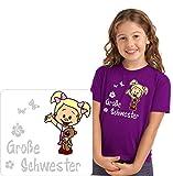 Geschwister T-Shirt für die große Schwester mit schönen Motiv Druck.