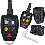 Auto Schlüssel Funk Fernbedienung 1x Smartkey Gehäuse + 1x Notschlüssel Rohling für Volvo