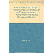Procurement and Project Performance: A Comparison of Management and Traditional Contracting (Occasional Paper)