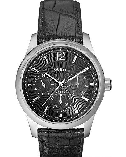 Guess Gents Watch Chronograph XL Leather W0475G1 Quartz