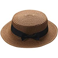LiucheHD Cappello di paglia genitorialità Visiera parasole Fiocco di paglia  Protezione solare Cappello a cilindro Hip 7bdfa1e18df6