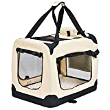 Jalano Transportbox für Hunde Hundebox Faltbar Transporttasche mit Hundedecke, Größe:XL