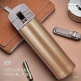 WENSISTAR Thermoskanne Water Bottle,Edelstahl-Isolierflasche, Business Car Wasserglas, Outdoor-Sportflasche @ Gold_500ml,Doppelwandig Vakuum Sportflasche