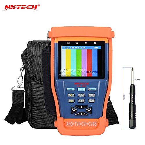 nktech nk-8954in 1CCTV Überwachungskamera Tester Video Monitor für Analog AHD TVI CVI CVBS Sicherheit Kameras Detektor BNC 8,9cm TFT-LCD PTZ RS485Netzwerk-Kabel Audio Video Test