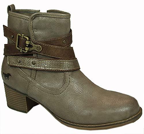 MUSTANG 1197-510 Schuhe Damen Stiefeletten Ankle Boots, Schuhgröße:40 EU, Farbe:Beige - 510-schuhe