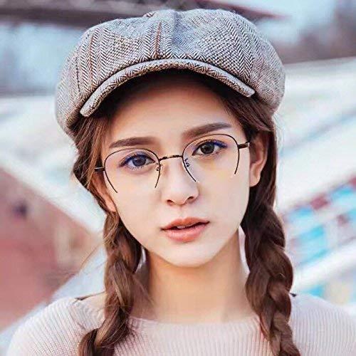 Halbformat-Augen im japanischen Stil erwecken alte Bräuche zu neuem Leben. EIN weibliches Brillengestell verhindert, DASS blaues Licht die Brille eines Mädchens ohne anastigmatischen Schmink