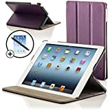 ForeFront Cases� New iPad 2 / iPad 3 & iPad 4 Luxury Leather Case / Cover Stand - Apple iPad 2 , iPad 3 & iPad 4 / 2nd , 3rd & 4th Gen - Magnetic Auto Sleep Wake Function + STYLUS & SCREEN PROTECTOR WORTH �9.95 - PURPLE