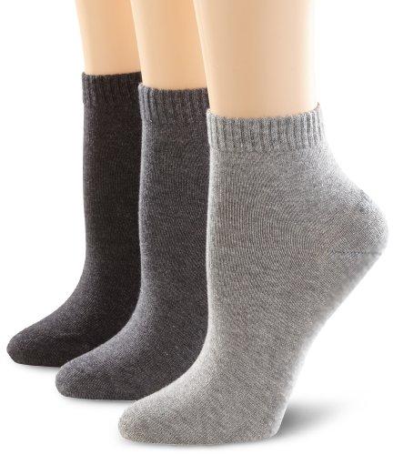 s.Oliver Unisex - Erwachsene Socke 3 er Pack, S21001, Gr. 43-46, Grau (08 anthracite)