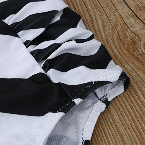 Femmes Bikini impression,Tankini sets maillots de bain deux pièces shorts-Lonshell Blanc