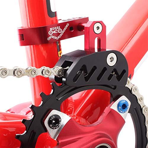 Kettenführung für Mountainbikes, Rennrad, Mountainbike, Kettenführung, Spanner mit hohlem Design für Einzelscheiben-Kettenrad, vorderes Zifferblatt, glattes Fahren, rot