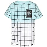 STOP to start Stop by Shoppers Stop Boys Round Neck Check Tee_Aqua_8-9 Years