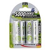 ANSMANN maxE Mono D Akku 5000mAh  vorgeladene ready2use NiMH Power Akkubatterie Monozelle mit geringer Selbstentladung