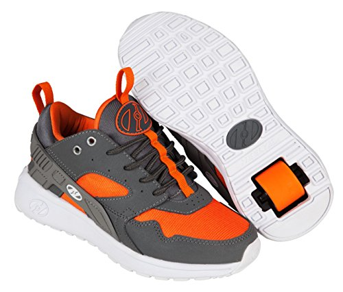 Heelys Jungen Force Turnschuhe Grau (Dark Grey / Grey / Orange)