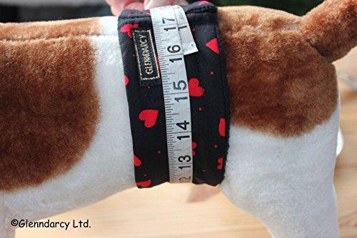 Glenndarcy Dog Pants Windelhose für Hunde, Größe L, Red Hearts - 3