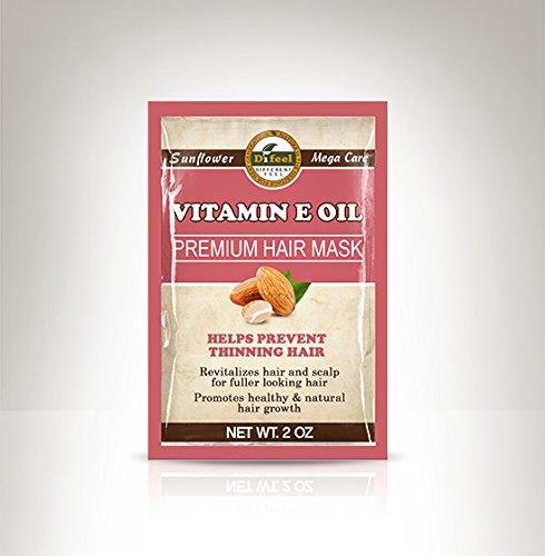 Difeel Vitamine E Huile Premium Masque capillaire - Sachet de 50 g