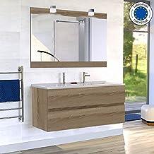 Meuble salle de bains double vasque 120 for Meuble salle de bain sur mesure pas cher