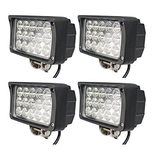 BRIGHTUM 4 X 45W LED Offroad Arbeitsscheinwerfer weiß 12V 24V Reflektor worklight Scheinwerfer Arbeitslicht SUV UTV ATV Arbeitslampe Traktor Bagger LKW KFZ (4 Stück) -