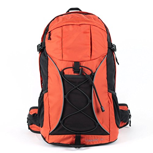 AMOS Outdoor wasserdichte Männer und Frauen Bergsteigen Tasche 32L Reiten Wanderrucksack Orange