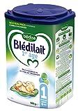Blédina Blédilait - Lait bébé 1er âge en poudre de 0 à 6 mois 900 g - Pack de 6