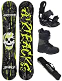 AIRTRACKS Snowboard Set / Board Savage Wide Hybrid Rocker 150 + Snowboard Bindung Star + Boots Star Black 40 + Sb Bag