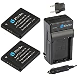 EforTek NB-11L Replacement Battery (2-Pack) And Charger Kit For Canon NB-11L And Canon PowerShot A2300 IS A2400 IS A2500 A2600 A3400 IS A3500 IS A4000 IS ELPH 110 HS ELPH 115 HS ELPH 130 HS ELPH 170 IS ELPH 320 HS ELPH 340 HS SX400 IS SX410 IS ELPH 350 HS
