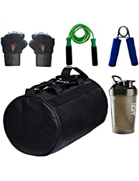 SOOPLE SPORTZ Gym Bag Combo Set Enclosed With Soft Leather Gym Bag For Men And Women For Fitness - Bag Size 49cm... - B07D9LG42F