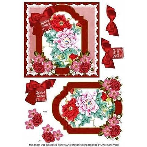 Oriental Peonies felicitaciones atrasadas 6in Floral paso por Ann-Marie Vaux