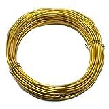 #9: Beadsnfashion Jewellery Making Aluminium Craft Wire Gold 10 Mtrs, Size 2 mm