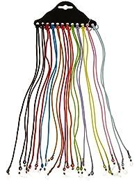 12pcs Cordon Elastique de Lunettes pour Adulte