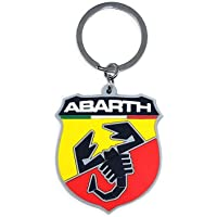 Abarth 21754 Soft Touch Shield Key Ring, Giallo e Rosso, Taglia Unica