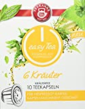 Teekanne easy Tea 6 Kräuter Teekapseln für Nespresso - Kaffeemaschinen, 6x 10er Pack (6 x 10 Kapseln)