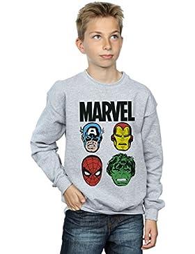 Marvel niños Comics Main Heads Camisa De Entrenamiento