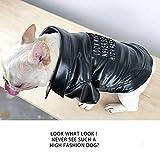 Haustier Kleidung Neuheit Motorrad Leder Hund Haustier Sweatshirt Für Small Medium Dog PU + Flanell Schwarz,L