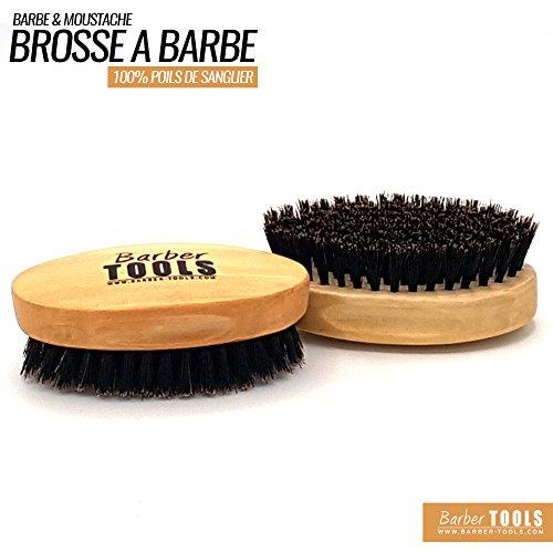 BARBER TOOLS  Cepillo y de alta calidad bigote. 100% cerdas de jabalí. Es ideal para su uso con aceite y bálsamo, cera y toda barba cuidado.