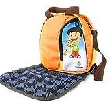 EarthVibe Combo Lunch Tote Bag Free Mat Insulated Zipper Handle Waterproof Bottle Holder-Orange