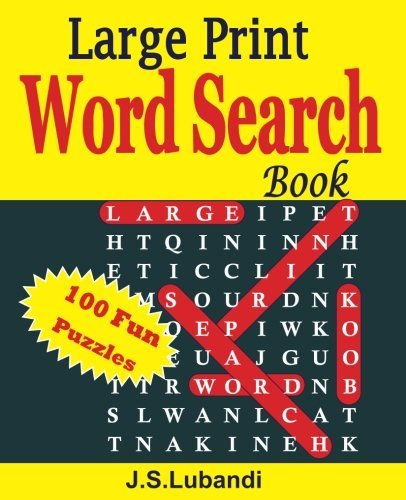 Large Print Word Search Book (Volume 1) by J S Lubandi (2015-05-29)