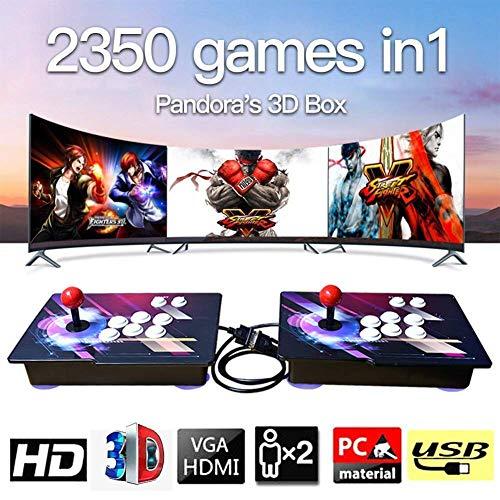 Home Arcade Konsole, 2350 Classic-Spiele Joystick Spielkonsole, Kundenbezogene Schaltflächen, 1920x1080 Full HD, Unterstützt PS3, pielcontroller, HDMI und VGA Ausgang (Ps3 Nur Konsole)