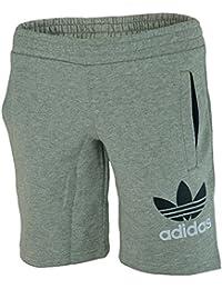 Adidas YB Fleece Short Junior Jungen Kinder Shorts Kurze Hose Grau