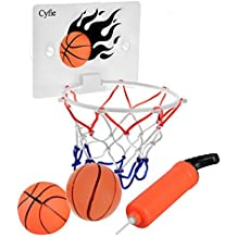 YAPASPT Indoor Mini Basketballkorb mit 16x 12 Shatter Resistant Backboard Enth/ält 2 Mini Basketb/älle un
